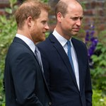 Książę William i Harry rozmawiali przed odsłonięciem pomnika Diany!