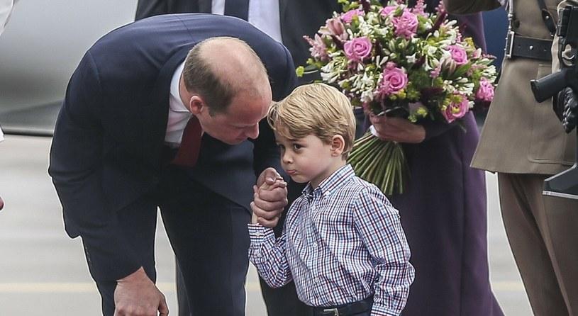 Książę William i jego syn - książę George na zdjęciu w 2017 roku /Karolina Misztal /East News
