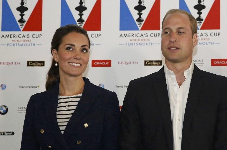 Książę William i jego żona /AFP