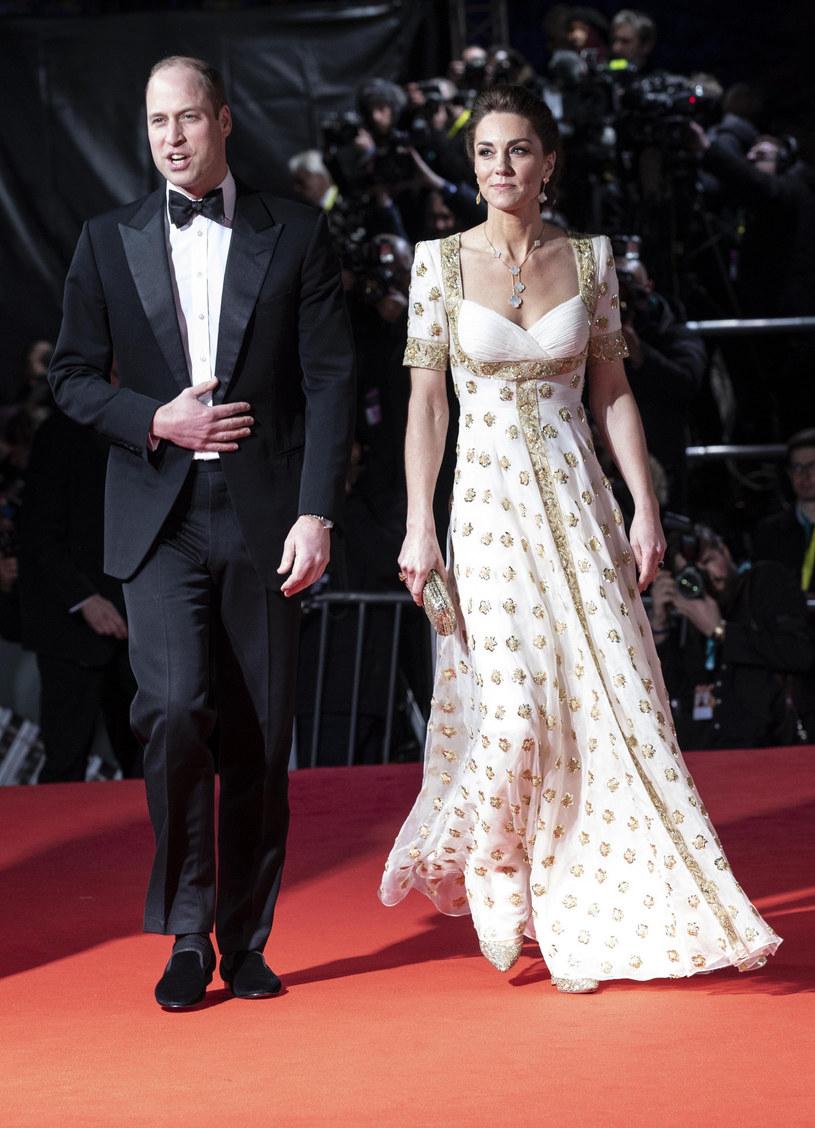 Książę William i księżna Kate na rozdaniu nagród BAFTA 2020 /The Telegraph pool/Associated Press /East News