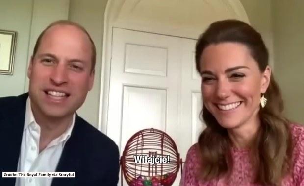 Książę William i księżna Kate poprowadzili wirtualne bingo dla mieszkańców domu opieki