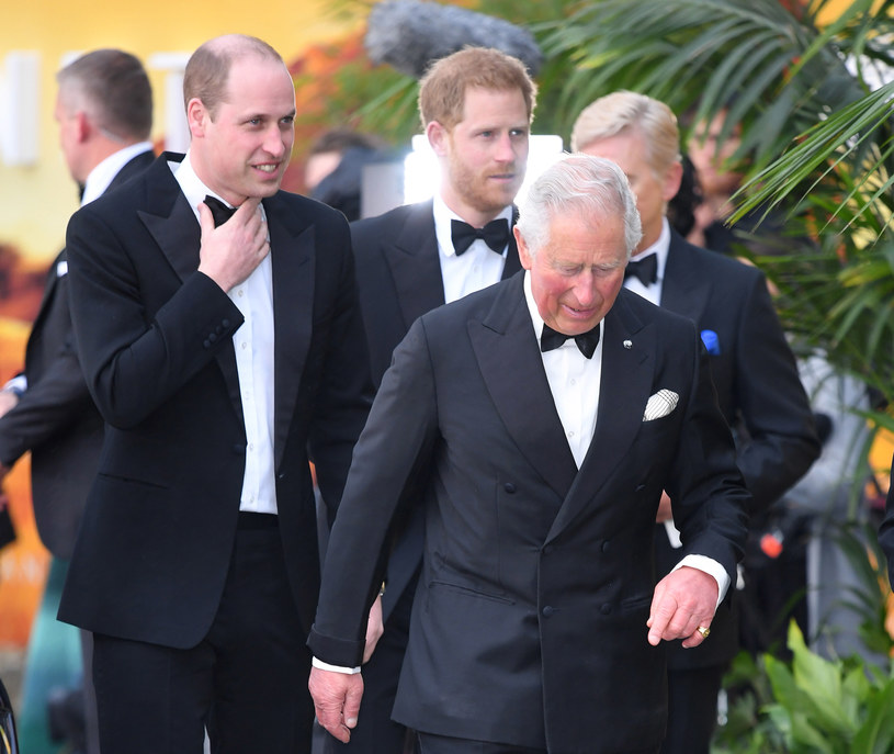 Książę William, książę Harry i książę Karol /Karwai Tang /Getty Images