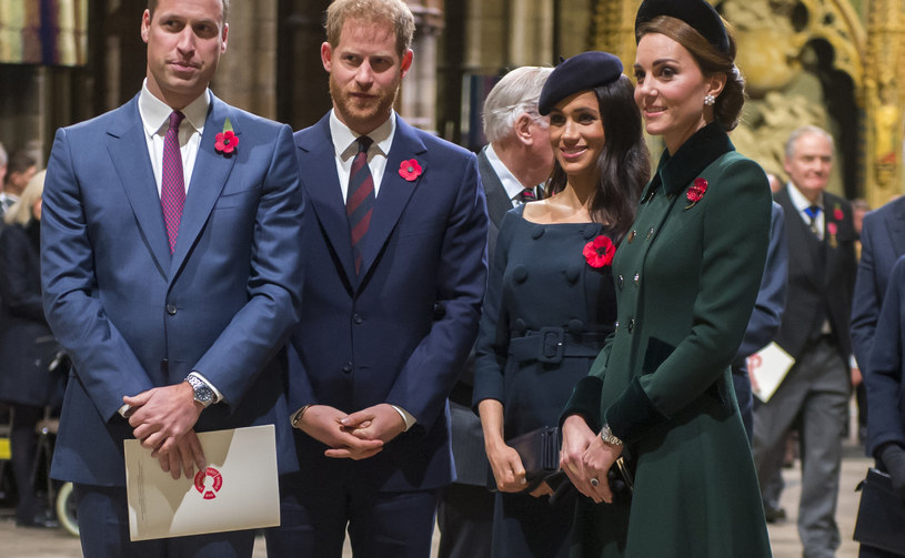 Książę William, książę Harry, księżna Meghan i księżna Kate /WPA Pool /Getty Images