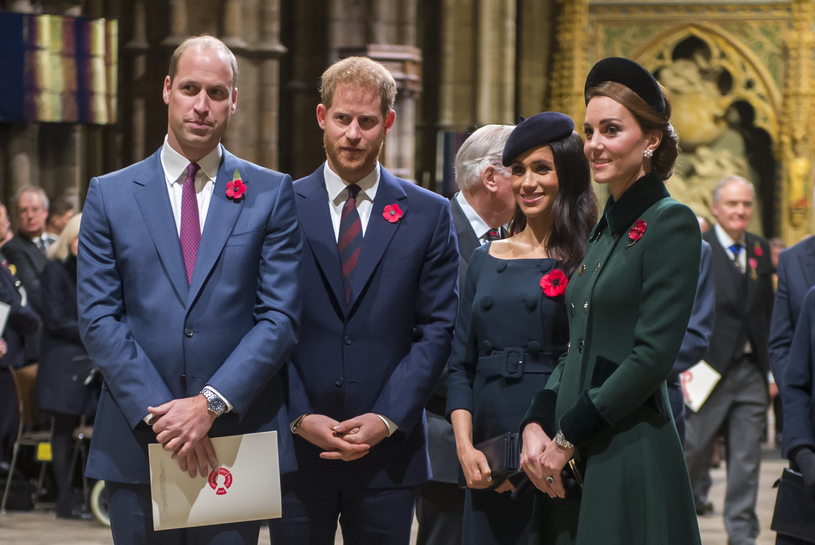 Książę William, książę Harry, Meghan Markle i księżna Kate /WPA Pool /Getty Images
