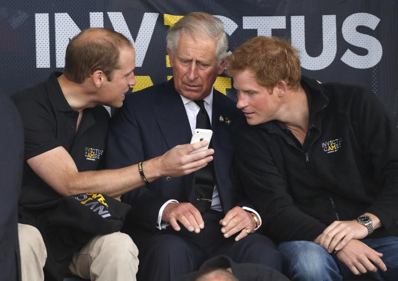 Książę William, książę Karol i Harry /Max Mumby/Indigo /Getty Images