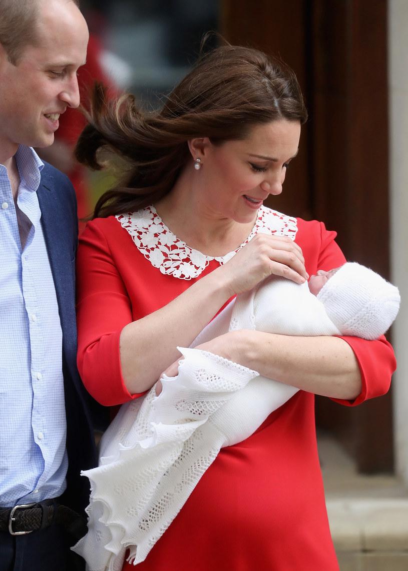 Książę William, księżna Kate i ich syn książę Loius /Chris Jackson /Getty Images
