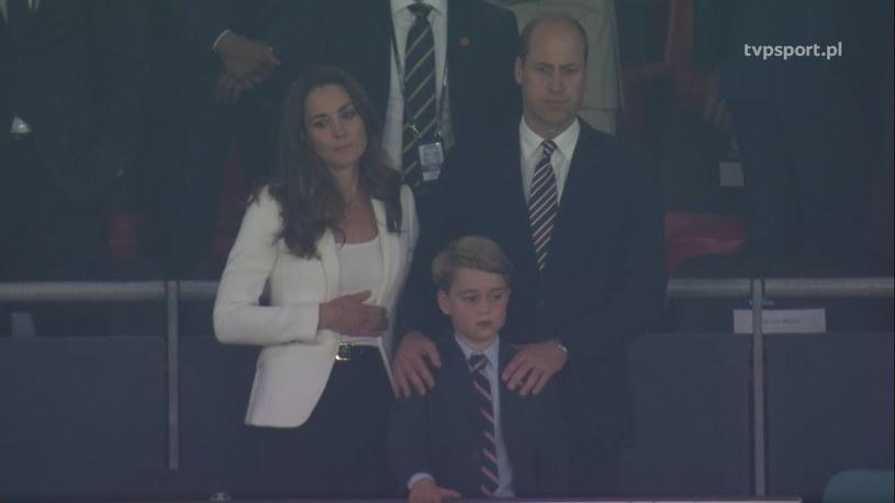 Książę William, Księżna Kate i mały George po finale Euro 2020 /materiał zewnętrzny