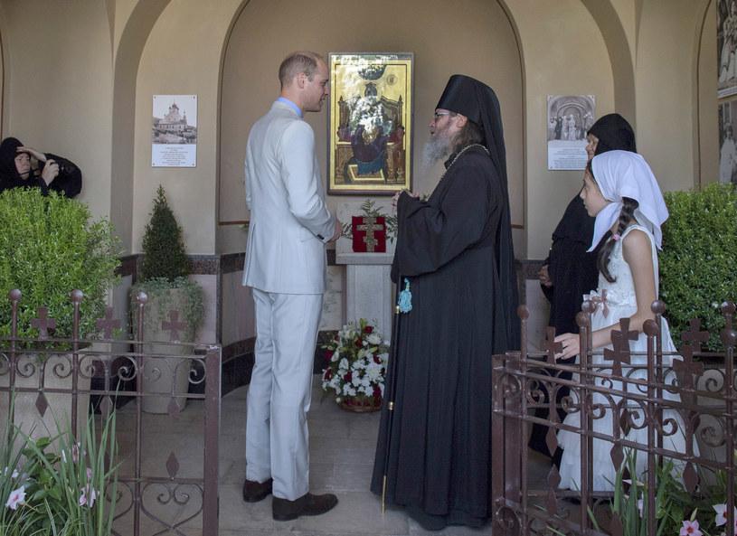 Książę William odwiedził grób księżniczki Alicji w Jerozolimie, by oddać jej cześć /Getty Images
