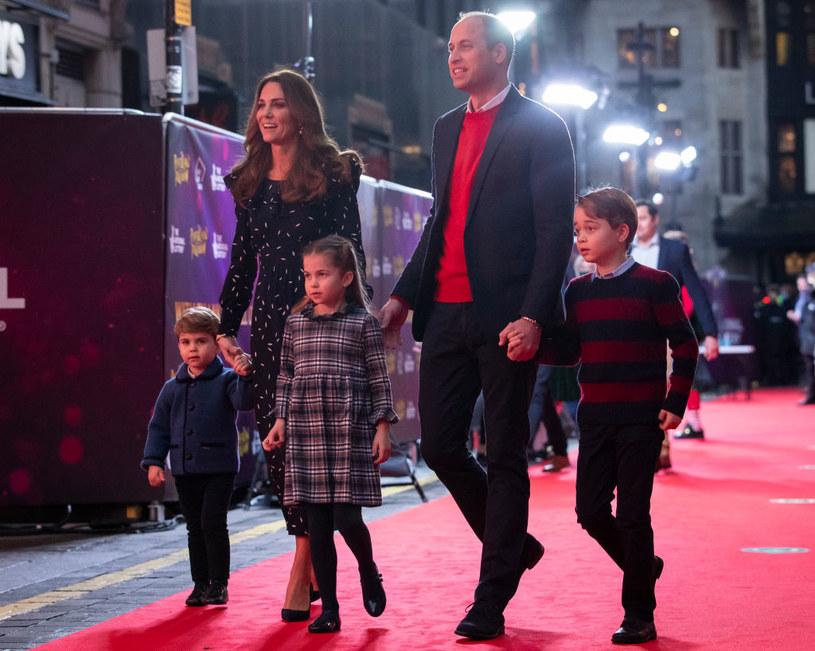 Książe William z Kate i dziećmi /Aaron Chown  /Getty Images