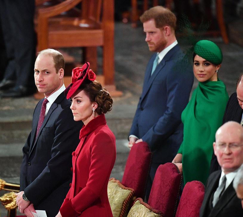 Książę William z księżną Kate i Harry z Meghan Markle /WPA Pool /Getty Images