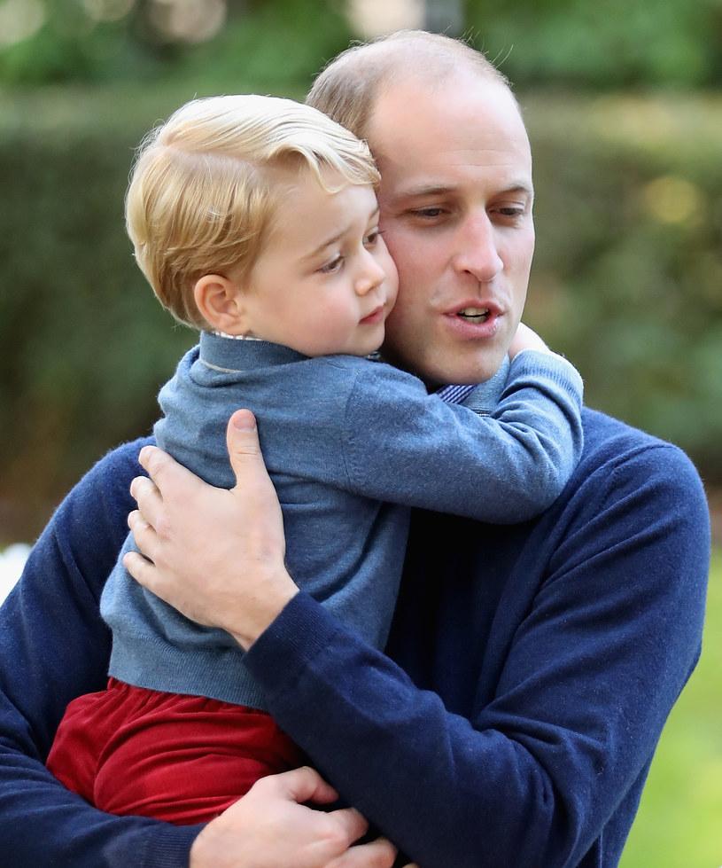 Książę William z synem Georgem /Chris Jackson /Getty Images