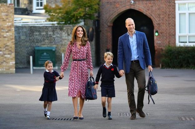 Książęca rodzina: William, Kate, George i mała Charlotte /Aaron Chown  /PAP/EPA