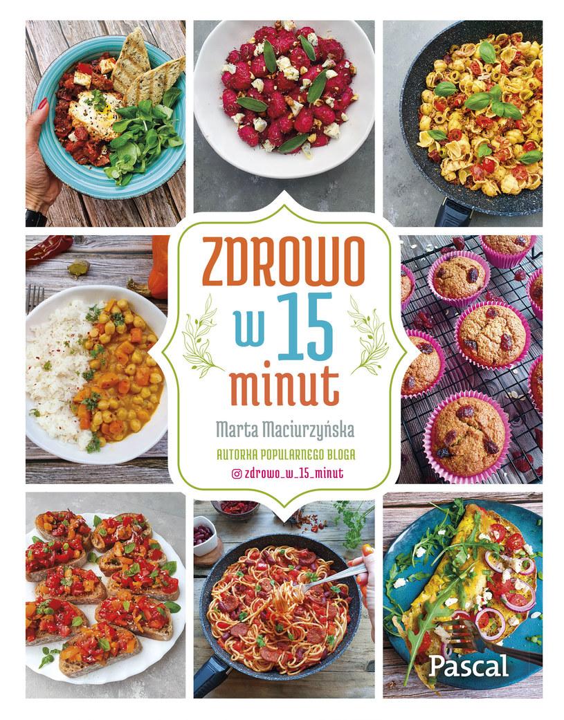 """Książka """"Zdrowo w 15 minut"""" zawiera przepisy na błyskawiczne dania /materiały prasowe /materiały prasowe"""