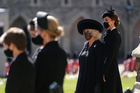 Księcia żegnały również księżna Kate i księżna Kornwalii / Victoria Jones-WPA Pool /Getty Images