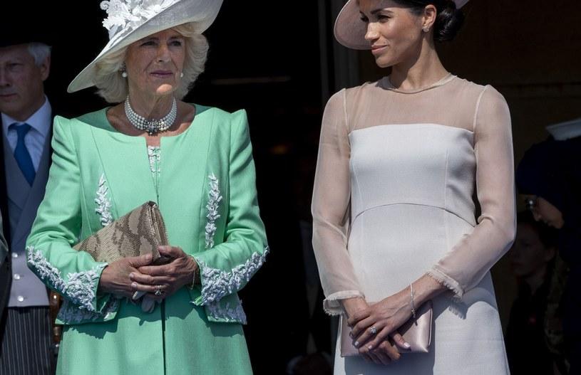 Księżna Camilla i Meghan Markle /Mark Cuthbert /Getty Images