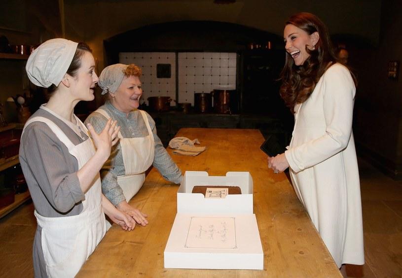 Księżna Catherine na planie  Downton Abbey /AFP
