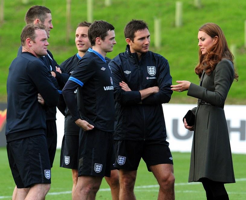 Księżna Catherine na zgrupowaniu angielskich piłkarzy /AFP