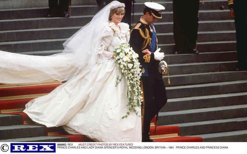 Księżna Diana i książę Karol w dniu ślubu /East News