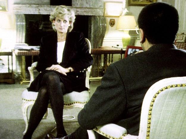 Księżna Diana podczas wywiadu z Martinem Bashirem /PAP/PA