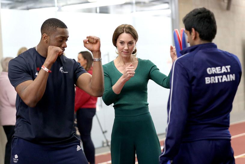 Księżna Kate ćwicząca taekwondo /YUI MOK/AFP/East News /East News
