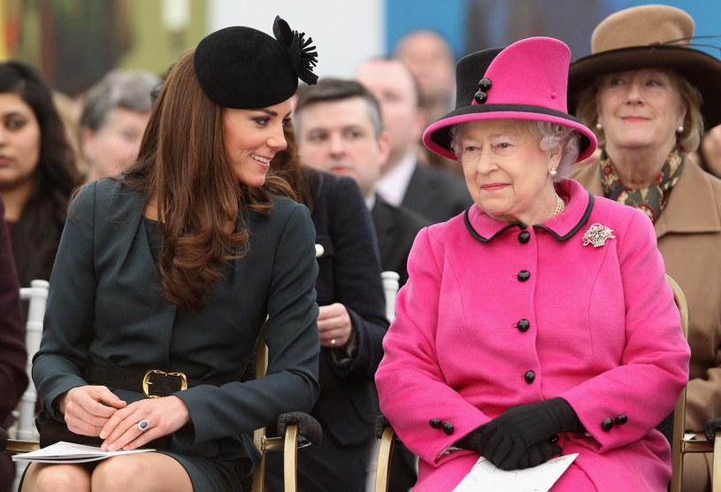 Księżna Kate i Elżbieta II /- /Getty Images