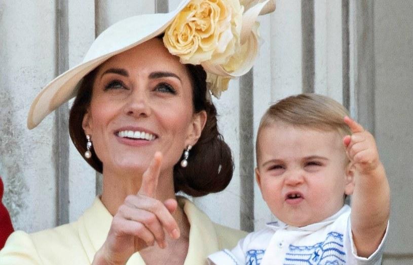 Księżna Kate i książę Louis /Doug Peters /East News