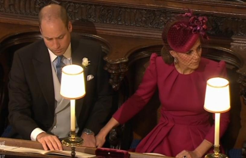Księżna Kate i książę William na ślubie księżniczki Eugenii /East News