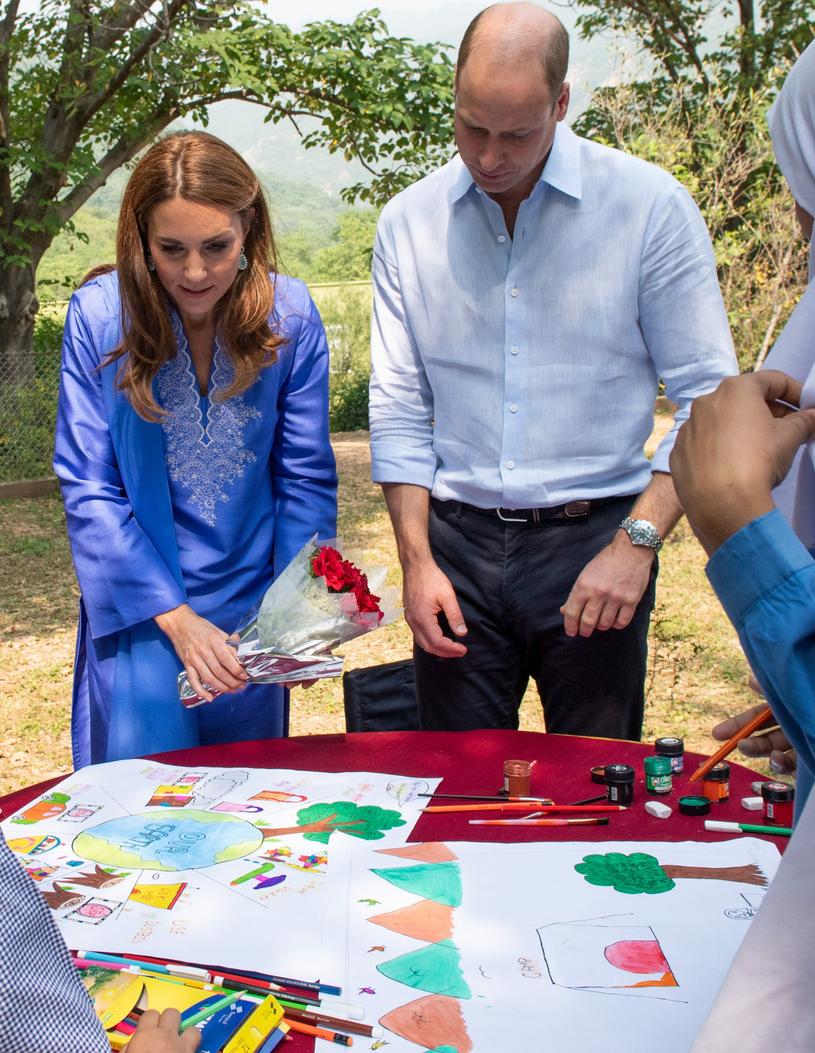 Księżna Kate i książę William w Pakistanie /Splash News /East News