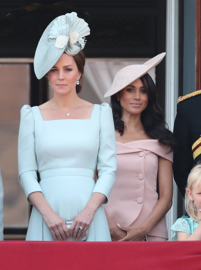 Księżna Kate i księżna Meghan /Chris Jackson /Getty Images