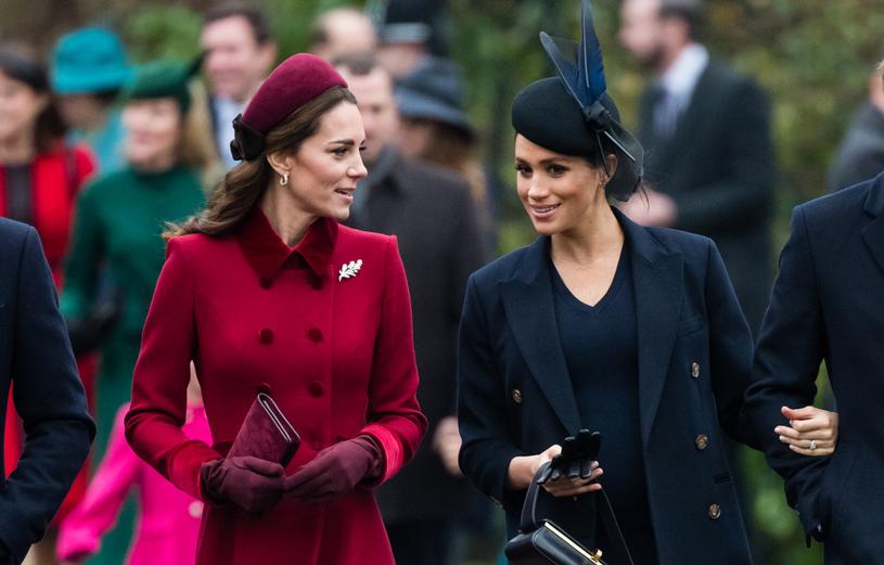 Księżna Kate i księżna Meghan /Pool / Samir Hussein /Getty Images