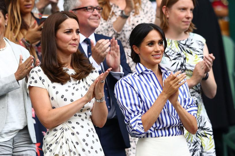 Księżna Kate i Meghan Markle /Michael Steele /Getty Images