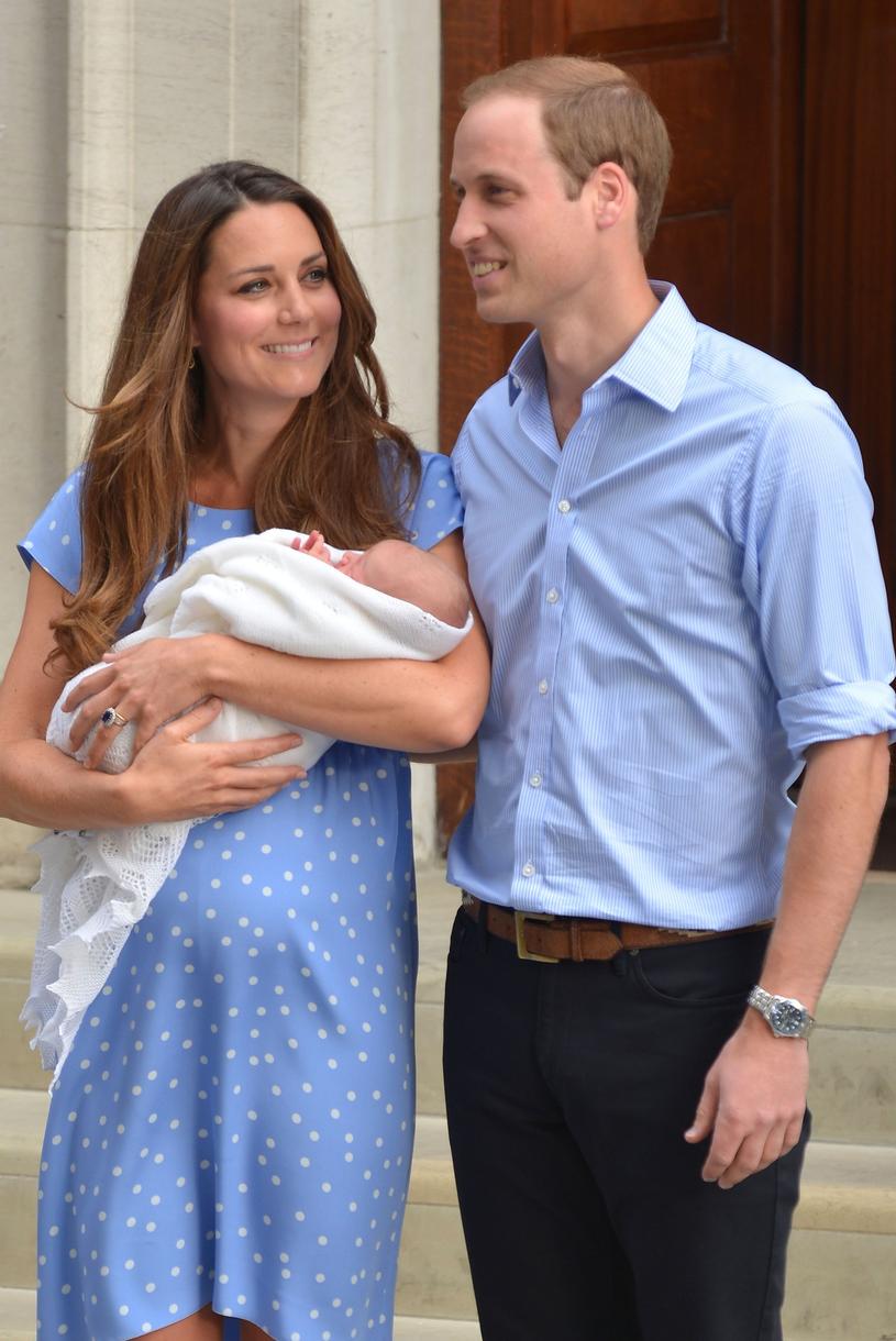 Księżna Kate, książę William i ich pierwsze dziecko /Phil Loftus/Capital Pictures /East News