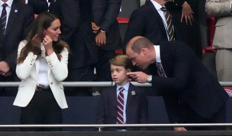Księżna Kate, książę William i książę George /Eamonn McCormack /Getty Images