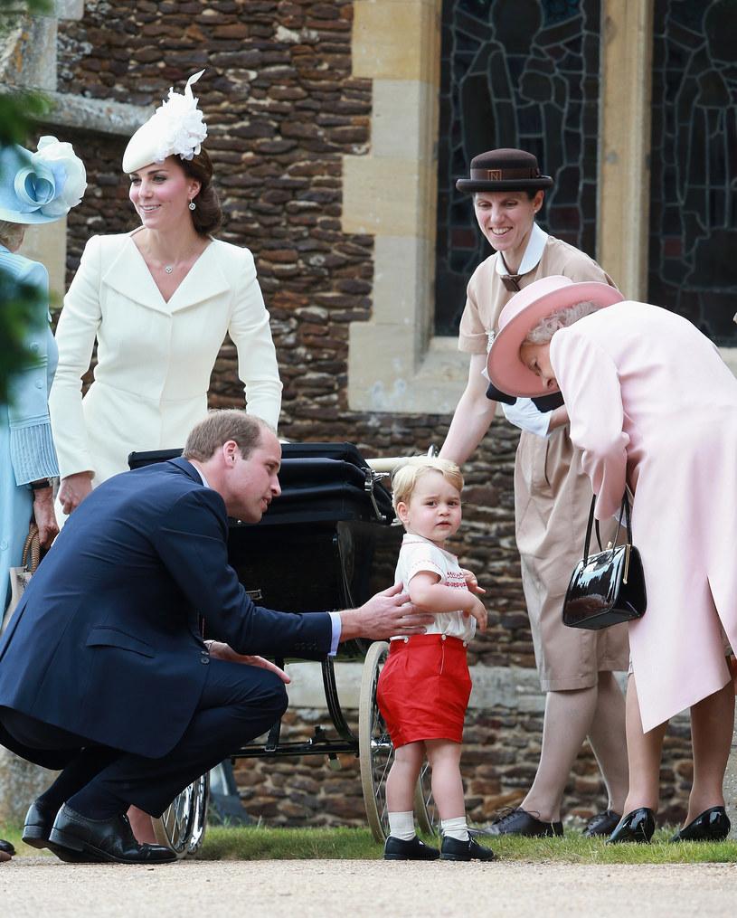 Księżna Kate, książę William, książę George, królowa Elżbieta II /Chris Jackson /Getty Images
