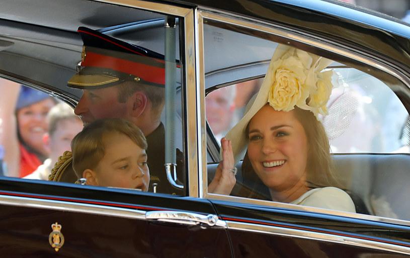 Księżna Kate, książę William oraz książę George /WPA Pool /Getty Images