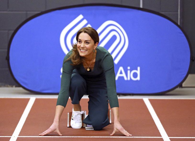 Księżna Kate przygotowująca się do biegu /East News