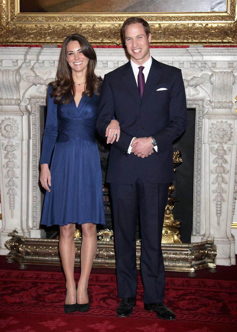Księżna Kate w niebieskiej sukience /Getty Images/Flash Press Media