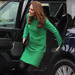 Księżna Kate w zielonej tunice. Wrócą plotki o ciąży?