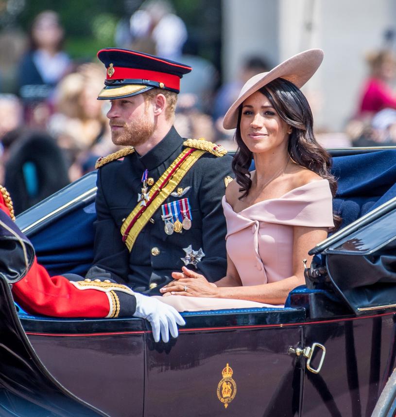 Księżna Meghan i księżę Harry podczas obchodów 92. urodzin królowej Elżbiety /Splash News /East News