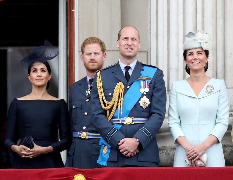 Księżna Meghan, książę Harry, książę William i księżna Kate /Chris Jackson /Getty Images