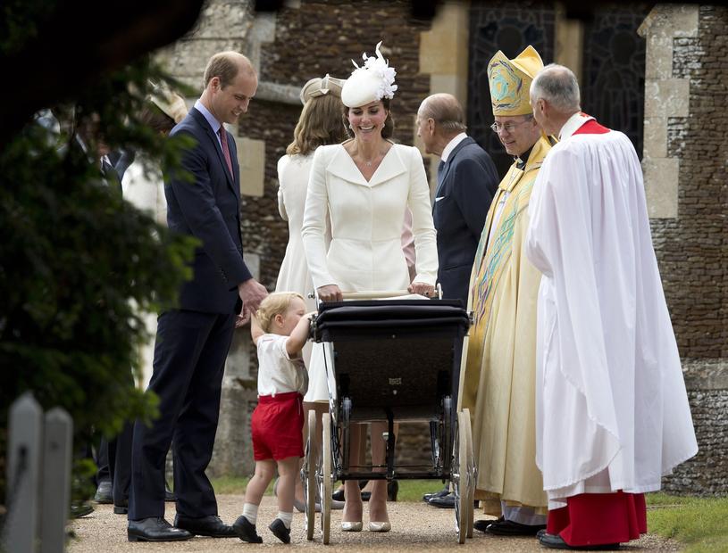 Księżna podczas chrztu księżniczki Charlotte /East News