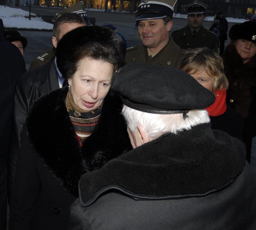 Księżniczka Anna podczas wizyty w Polsce /East News