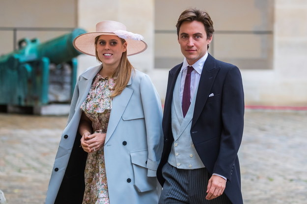 Księżniczka Beatrycze i Edoardo Mapelli Mozzi na zdjęciu z października 2019 /CHRISTOPHE PETIT TESSON /PAP/EPA