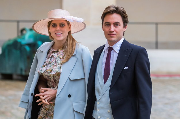 Księżniczka Beatrycze i jej mąż Edoardo Mapellego Monziego. Zdjęcie z 2019 roku. /Christophe Petit-Tesson /PAP/EPA