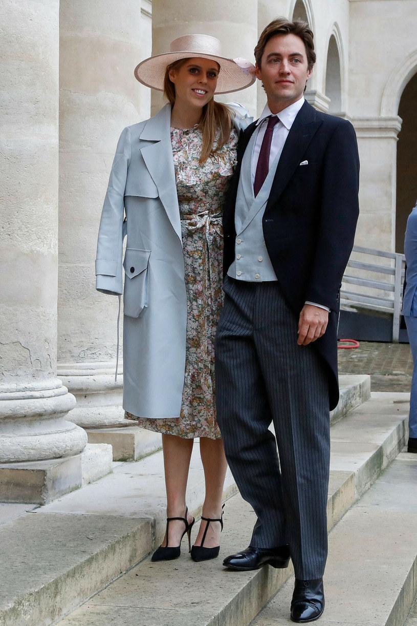 Księżniczka Beatrycze wraz z mężem pobrali się w 2020 roku /FRANCOIS GUILLOT/AFP/East News /East News