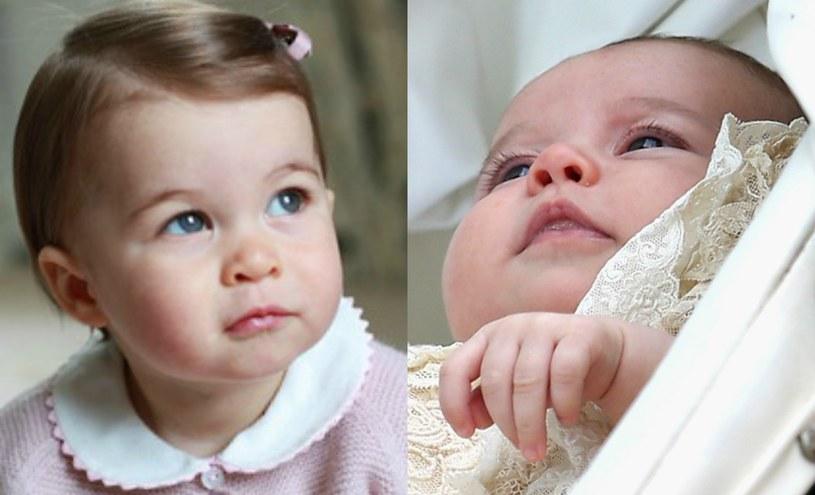 Księżniczka Charlotta - obecnie i podczas chrztu /INTERIA.PL