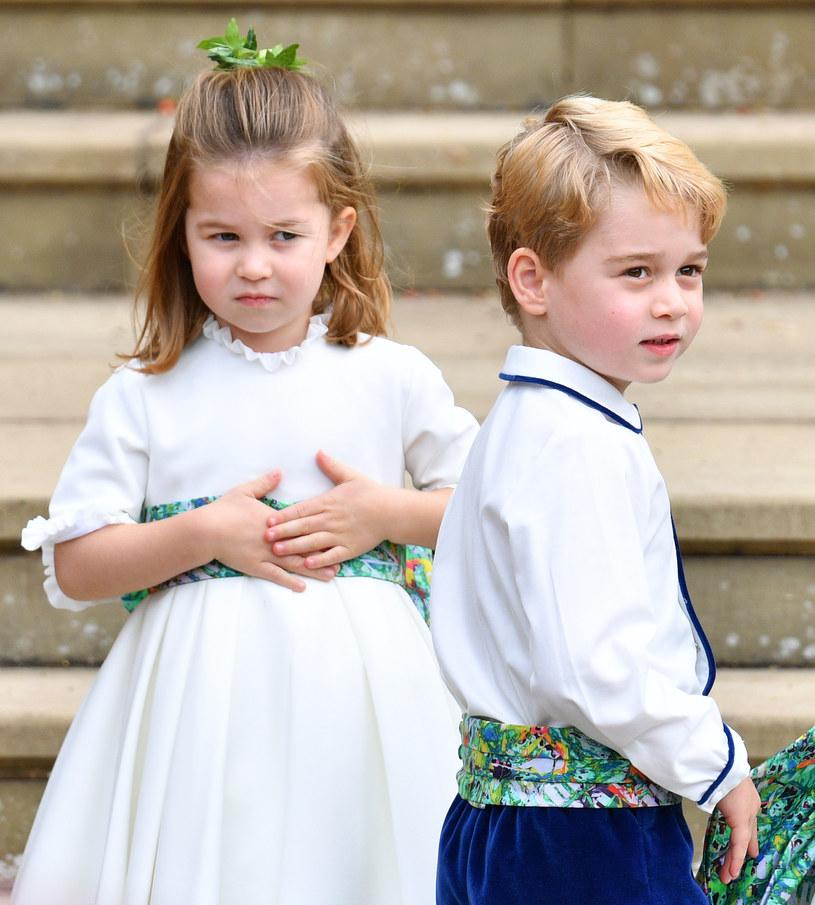 Księżniczka Charlotte z bratem /Getty Images