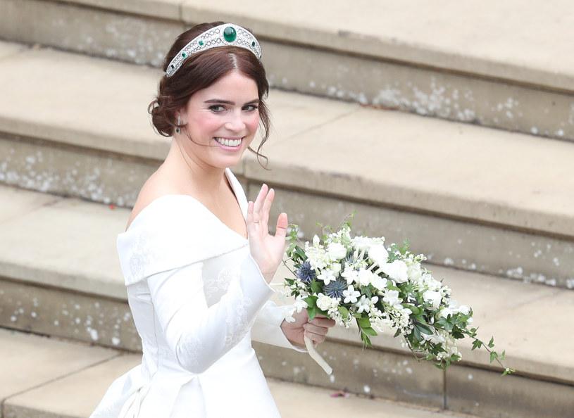 Księżniczka Eugenia podczas swojego ślubu była niezwykle szczęśliwa /WPA Pool /Getty Images