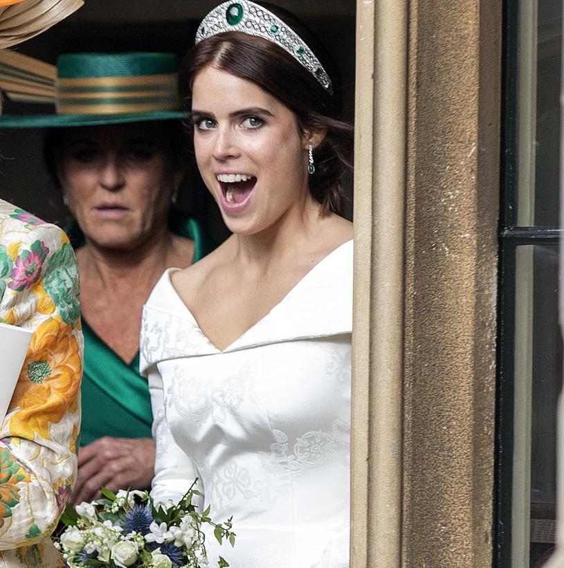 Księżniczka Eugenia w dniu ślubu. Czy niedługo na ślubnym kobiercu stanie jej siostra, Beatrycze? /WPA Pool /Getty Images