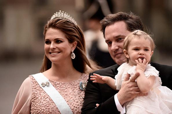 Księżniczka Madeleine i Christopher O'Neill z córką Eleonorą /Ian Gavan /Getty Images
